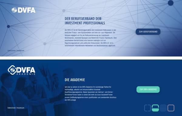 Vorschau von www.dvfa.de, DVFA, Deutsche Vereinigung für Finanzanalyse und Asset Management GmbH