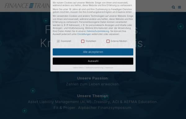 Vorschau von www.financetrainer.com, Finance Trainer International GmbH