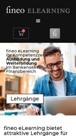 Vorschau der mobilen Webseite www.fineo.ch, Fineo AG
