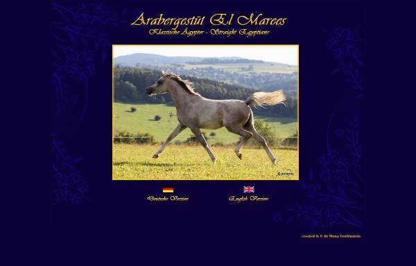 Vorschau von www.gestuet-el-marees.de, Gestüt El Marees, Blankenheim - Reetz