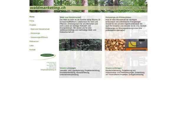 Vorschau von www.waldmarketing.ch, Elektronischer Holzmarkt für Schweizer Rundholz