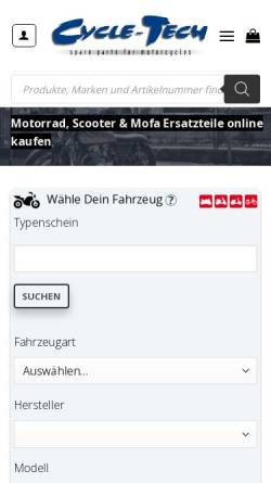 Vorschau der mobilen Webseite www.cycle-tech.ch, Cycle-Tech, ch, GmbH