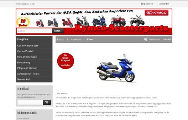 Vorschau von www.kymco-ersatzteile.de, Kymco-Scooterparts, Georg Heider