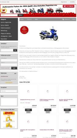 Vorschau der mobilen Webseite www.kymco-ersatzteile.de, Kymco-Scooterparts, Georg Heider