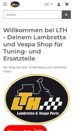 Vorschau der mobilen Webseite www.lambretta-teile.de, Lambretta Teile Heilbronn, Marco Büttner