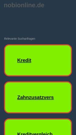 Vorschau der mobilen Webseite www.nobionline.de, Nobi-Online, Birgit Harms