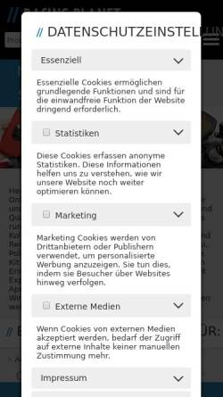 Vorschau der mobilen Webseite www.racing-planet.de, Racing Planet Vertrieb GmbH