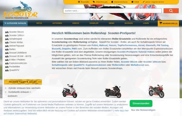 Vorschau von www.scooter-prosports.com, Scooter ProSports GmbH