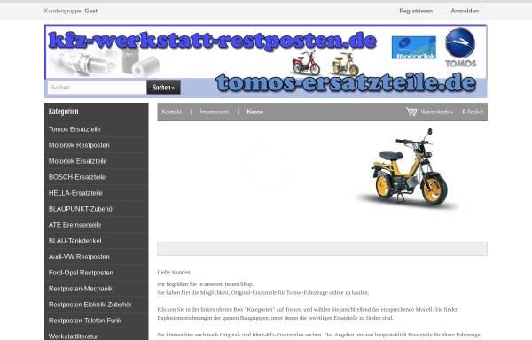 Vorschau von tomos-ersatzteile.de, Tomos-Ersatzteile