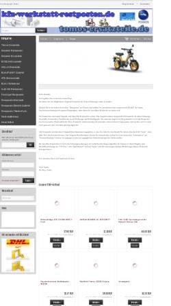 Vorschau der mobilen Webseite tomos-ersatzteile.de, Tomos-Ersatzteile