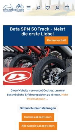 Vorschau der mobilen Webseite www.vespahandel.at, Vespahandel.at, Markus (Max) Hintersteiner