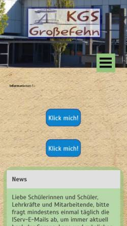 Vorschau der mobilen Webseite kgs-grossefehn.de, Kooperative Gesamtschule Großefehn ( KGS)
