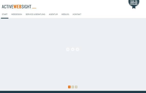 Vorschau von www.active-websight.de, Active-Websight - Webdesign & Internetagentur