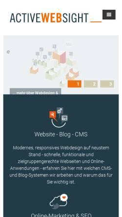 Vorschau der mobilen Webseite www.active-websight.de, Active-Websight - Webdesign & Internetagentur