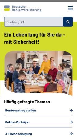 Vorschau der mobilen Webseite www.deutsche-rentenversicherung.de, Deutsche Rentenversicherung