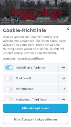 Vorschau der mobilen Webseite www.doggydogs.de, Doggy Dogs, Inhaberin Simone Spooren
