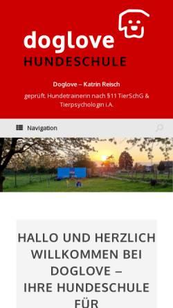Vorschau der mobilen Webseite www.doglove.de, Doglove Rita Huber