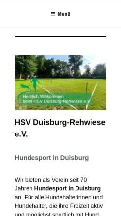 Vorschau der mobilen Webseite www.hundesport-rehwiese.com, DVG MV Rehwiese