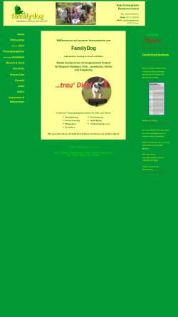 Vorschau der mobilen Webseite www.familydog.de, Familydog
