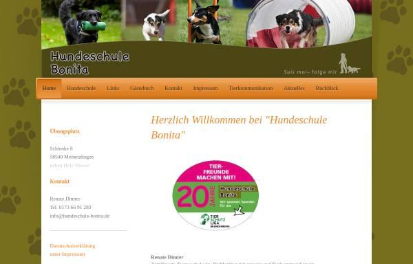 Vorschau von www.hundeschule-bonita.de, Hundeschule Bonita