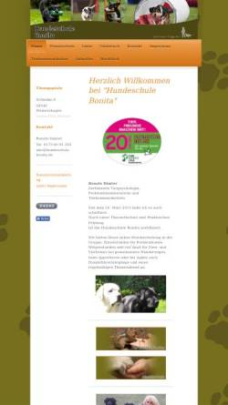 Vorschau der mobilen Webseite www.hundeschule-bonita.de, Hundeschule Bonita