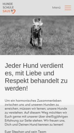 Vorschau der mobilen Webseite www.hundeschule-saus.de, Hundeschule Saus