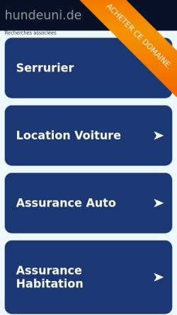 Vorschau der mobilen Webseite www.hundeuni.de, Hundeschule und -pension H. Villányi
