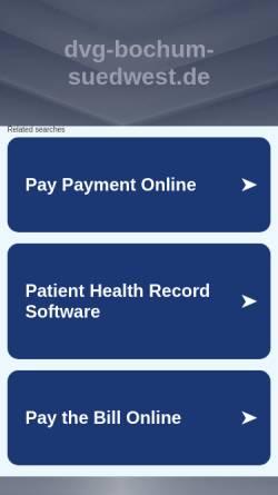 Vorschau der mobilen Webseite dvg-bochum-suedwest.de, Hundesportverein Bochum-Südwest e.V.