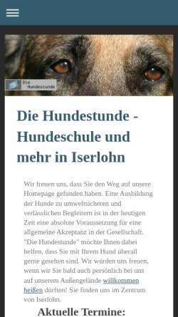 Vorschau der mobilen Webseite www.diehundestunde.de, Die Hundestunde