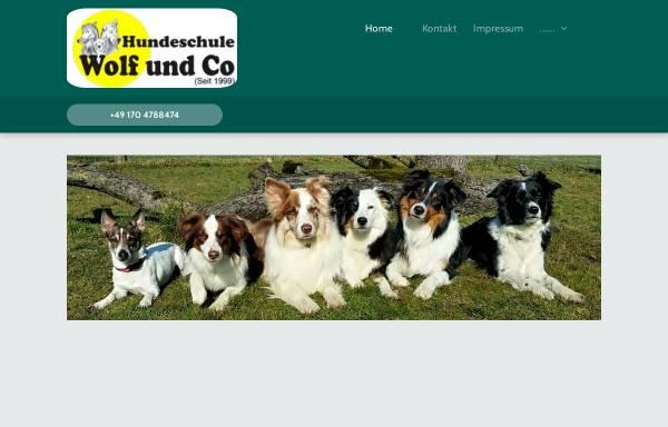 Vorschau von www.wolf-und-co.de, Mobile Hundeschule Wolf und Co.