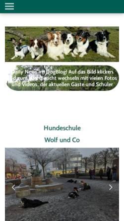 Vorschau der mobilen Webseite www.wolf-und-co.de, Mobile Hundeschule Wolf und Co.