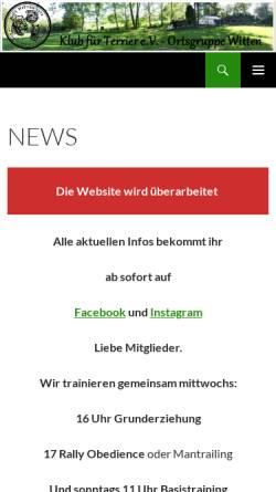 Vorschau der mobilen Webseite www.kft-og-witten.de, Ortsgruppe Witten, Klub für Terrier