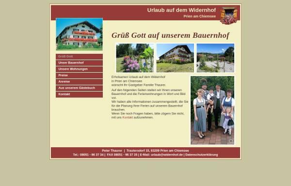 Vorschau von www.widernhof.de, Widernhof