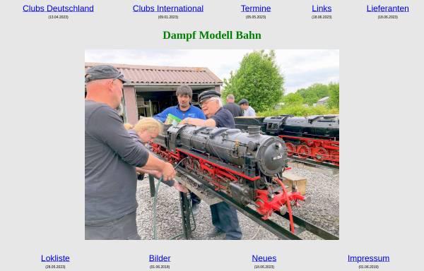 Vorschau von www.dampf-modell-bahn.de, Dampf Modell Bahn