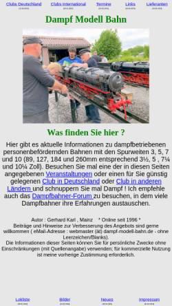 Vorschau der mobilen Webseite www.dampf-modell-bahn.de, Dampf Modell Bahn