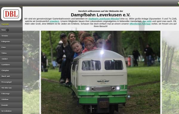 Vorschau von www.dampfbahn-leverkusen.com, Dampfbahn Leverkusen e.V.