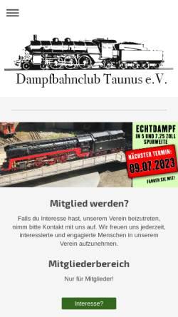 Vorschau der mobilen Webseite www.dbc-taunus.de, Dampfbahnclub Taunus e.V.