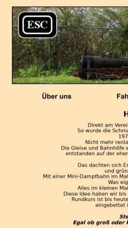 Vorschau der mobilen Webseite www.esc-dampfbahn.de, Ebnater Schättere Club