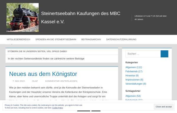 Vorschau von www.steinertseebahn.de, Modell-Bahn-Club Kassel e.V.