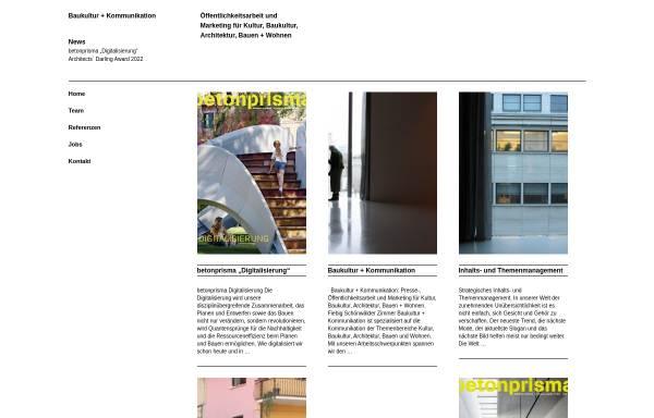 Vorschau von www.baukultur-kommunikation.de, Fiebig Schönwälder Zimmer GbR