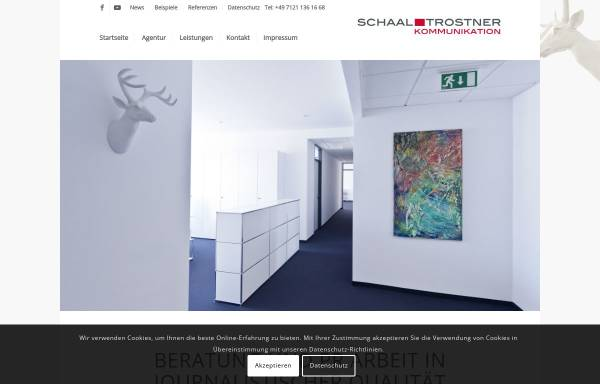 Vorschau von www.pr-trostner.de, PR Agentur Trostner GmbH