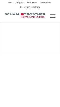 Vorschau der mobilen Webseite www.pr-trostner.de, PR Agentur Trostner GmbH