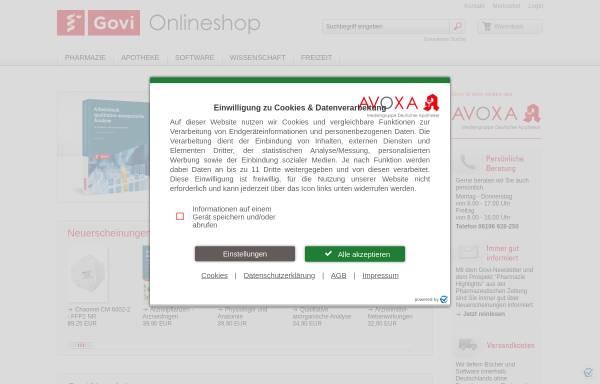 Vorschau von www.govi.de, Govi-Verlag Pharmazeutischer Verlag GmbH