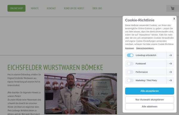 Vorschau von www.eichsfelder-wurst.de, Giesbert Bömeke Eichsfelder Wurstspezialitäten