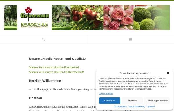 Vorschau von www.baumschule-gruenewald.de, Grünewald Baumschulen Gartengestaltung