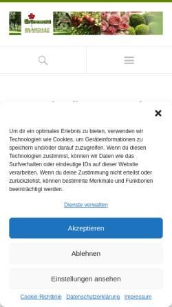 Vorschau der mobilen Webseite www.baumschule-gruenewald.de, Grünewald Baumschulen Gartengestaltung