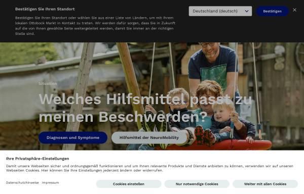 Vorschau von www.ottobock.de, Otto Bock HealthCare Deutschland GmbH