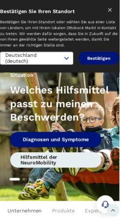 Vorschau der mobilen Webseite www.ottobock.de, Otto Bock HealthCare Deutschland GmbH