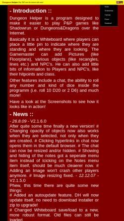 Vorschau der mobilen Webseite dh.abomb.info, Dungeon Helper