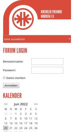 Vorschau der mobilen Webseite www.kreidler-verein.de, Kreidler Freunde Norden e.V.